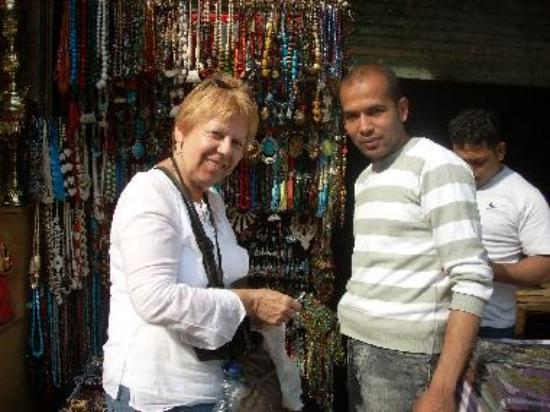 Vendors are very friendly; here a TripAdvisor member buys jewelry.