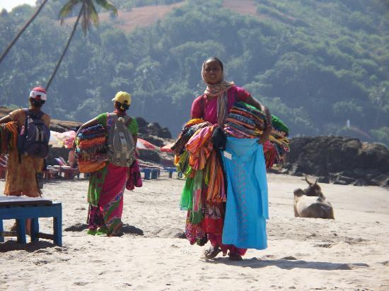 Goa, Indien: beach sellers