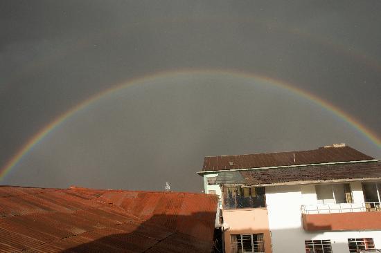 Double rainbow seen from Panza del Artista