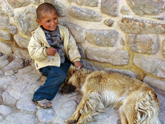 Panza del Artista: Little boy with dog