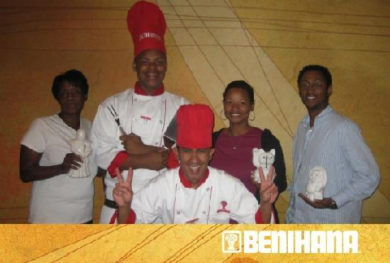 Benihana: Everyone including Ananda (head chef)