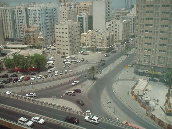 Swiss-Belhotel Sharjah: the view from our hotel room