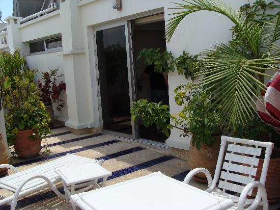 Le Pietri Urban Hotel : Terrace of room at Hotel Le Pietri - Rabat (Morocco)