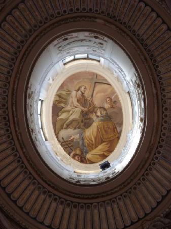 Basilica Soluntina Sant'Anna: Basilica Soluntina - l'oculo affrescato