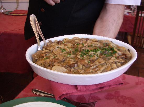 Castel del Piano, Italia: Zuppa di fungi-mushroom soup