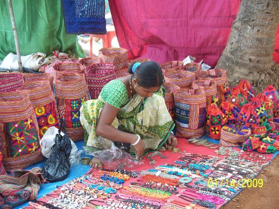 Goa, Indien: anjuna market