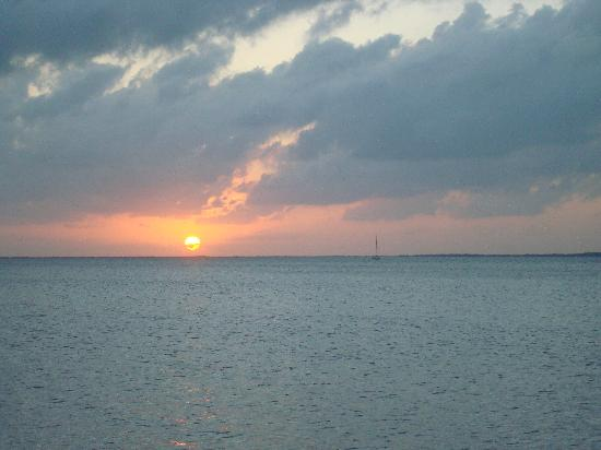 Amy Slate's Amoray Dive Resort: Sun set from Amoray beach area