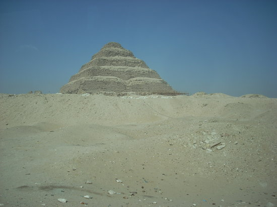 Saqqara, Egipto: A nice view of the pyramid from the area where Teti's Tomb is located.