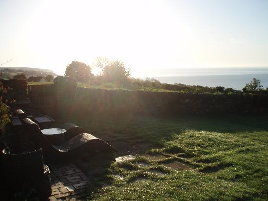 Strete Barton House: View from the garden at sunrise