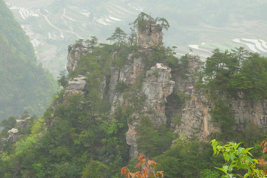 Zhangjiajie, Kina: A View from Tianzi