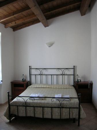 Corvara, Italy: Unser Bett im Hotelzimmer