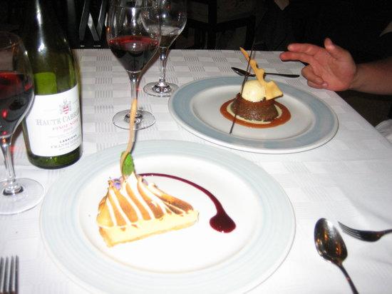 Seafood at the Marine: dessert