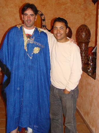 Riad Nezha: Yo con el dueño Ibrahim