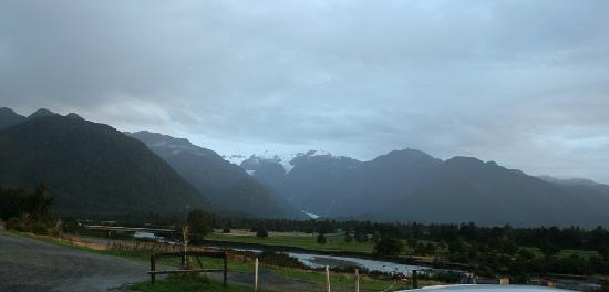 Glacier Cottages: view from our room