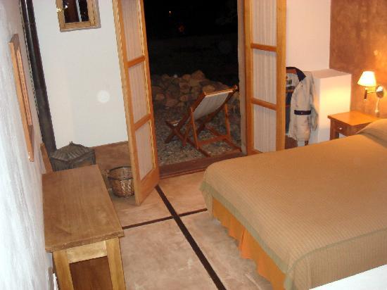 Posada de Luz: vista de mi habitación (anocheciendo)