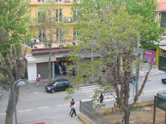 Hotel Aragosta: Viale Regina Elena visto dal terrazzo