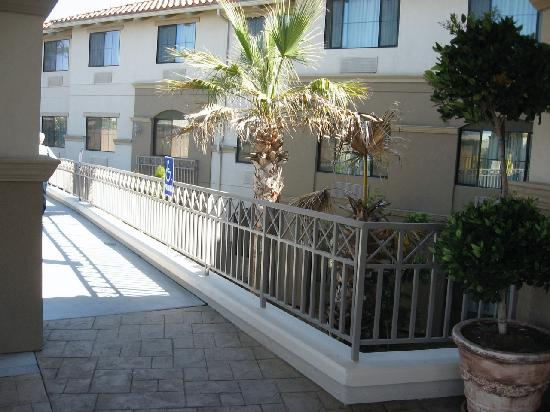 Holiday Inn Express Hotel & Suites - Marina: The entrance and lobby are  on the second floor