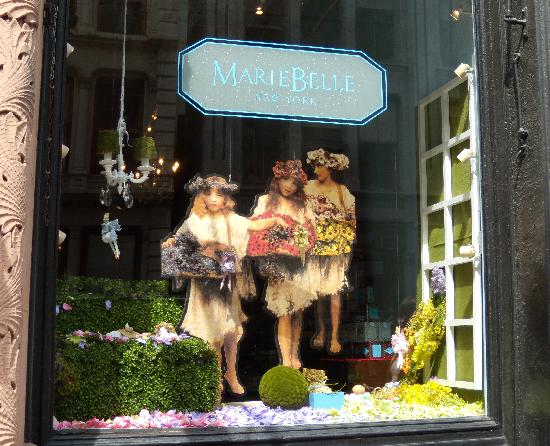 MarieBelle Cacao Bar and Tea Salon : Wonderful window display