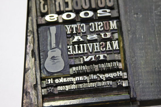 Hatch Show Print: Set type