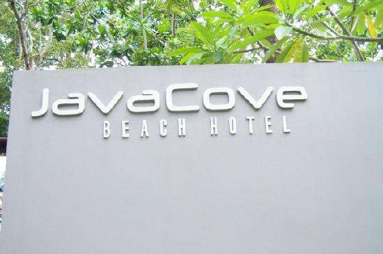 JavaCove Beach Hotel: the hotel entry wall