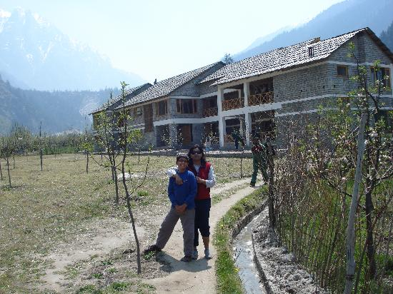 Banjara Camp &  Retreat - Sangla Valley Camp : The retreat is in the background..