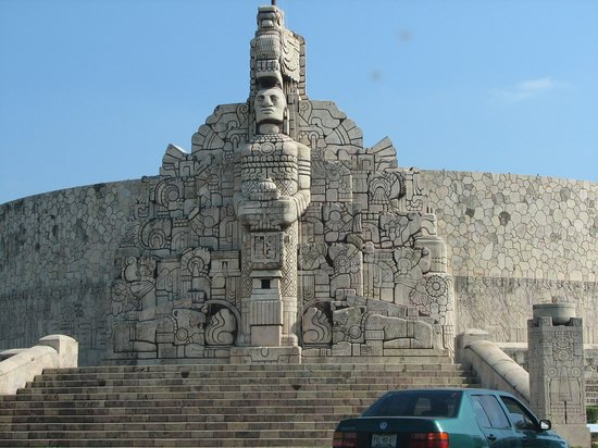 Merida, Mexico: Monument to Fatherland built in 1956 by Romulo Roza
