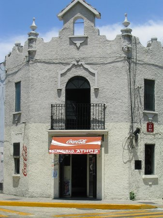 Merida, Mexico: An old Jesuit building...Coke is newer religion of Mexico!