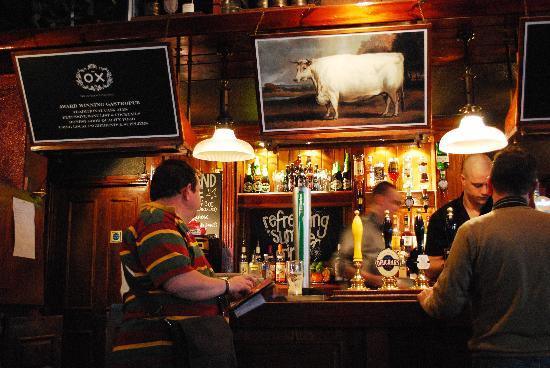 The Ox: The bar area