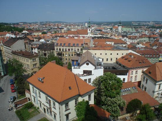 Cathedral of St. Peter and St. Paul: View of the Old Brno from Cathedral Tower 1