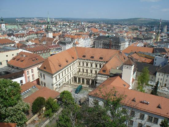 Cathedral of St. Peter and St. Paul: View of Old Brno from Cathedral Tower 2