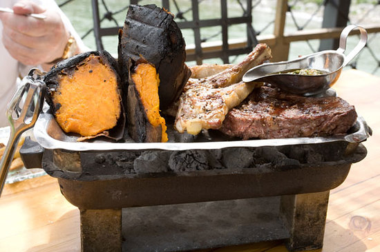 Decks Restaurant : Mixed grill with sweet potatoes