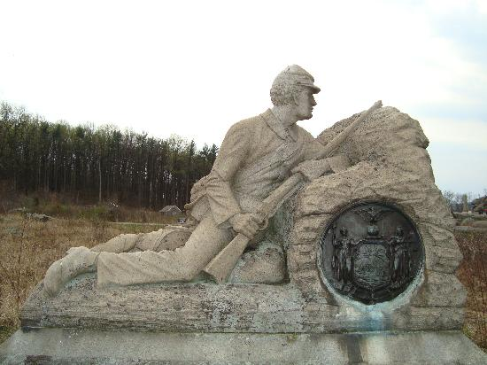 Confederate Monument Near Devil S Den Picture Of