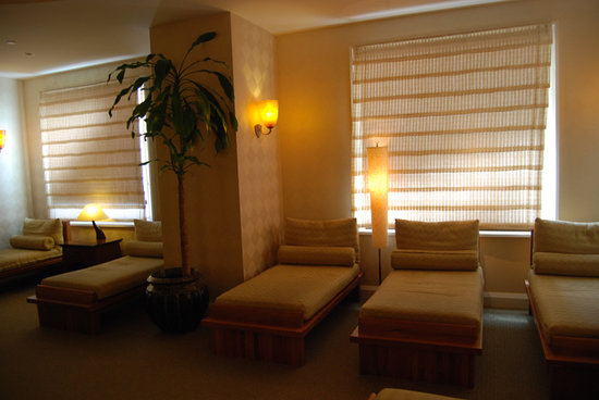 Indian Wells, CA: relaxation room at the Spa Esmeralda 4-09