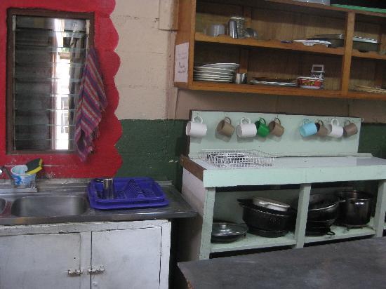 Pension Santa Elena : the communal kitchen
