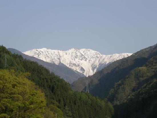 Oshika-mura, Giappone: 広河原からの赤石岳