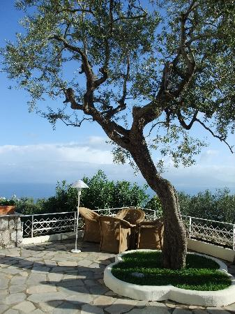 Grand Hotel Aminta: The view on the terrace outside the restaurant / bar