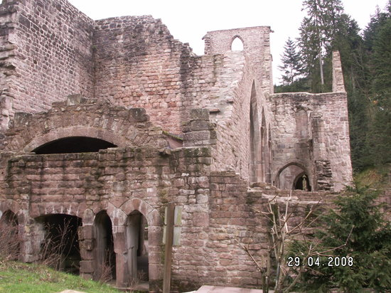 Baden Württemberg, Almanya: The ruined kloister at Allerheiligen