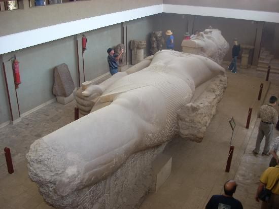 Alabaster Sphinx : The Colossus of Ramses II lies nearby.