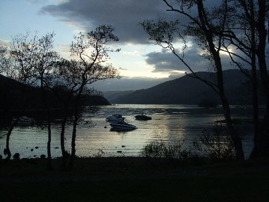 St Fillans, UK: Night Fall Over Loch Earn