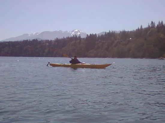 Port Angeles, WA: Kayaking in strait of juan de fuca-olympic mts in background