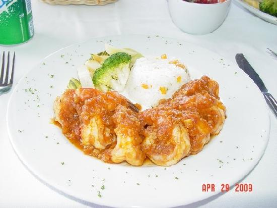 JC Capitan: yummy spicey shrimp dish