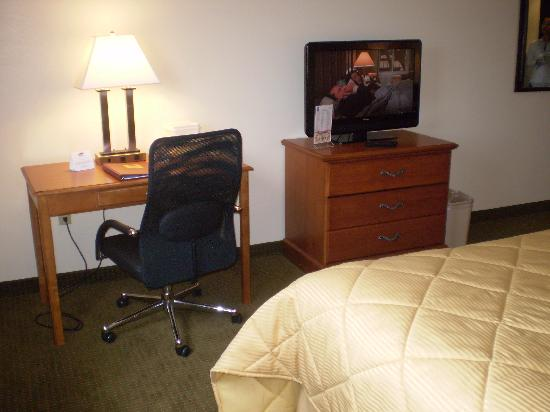 Comfort Inn Williamsport: tv and desk
