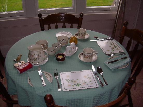 Highfield House: super tavolo della colazione
