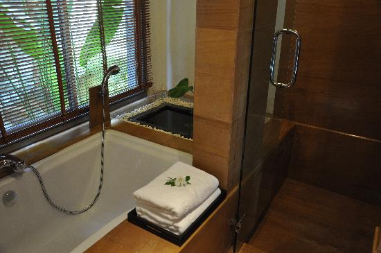 Nakamanda Resort & Spa: Sala Villa his & her sinks/dressing area