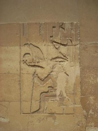 A carving on the outside of the tomb of Mereruka
