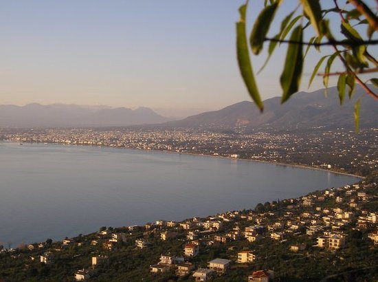 Calamata, Grecia: Kalamata from Taygetos mountain