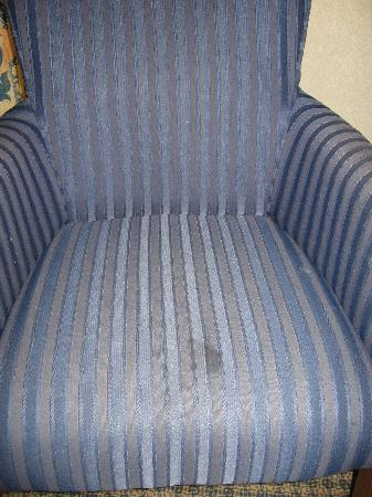 Greenwood Inn & Suites: stained chair