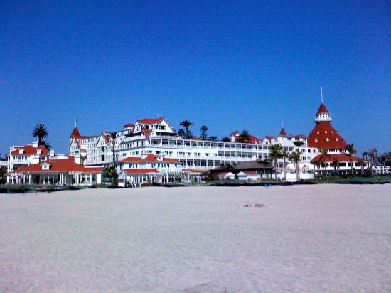 Hotel del Coronado: The beach village with the Del in the background.