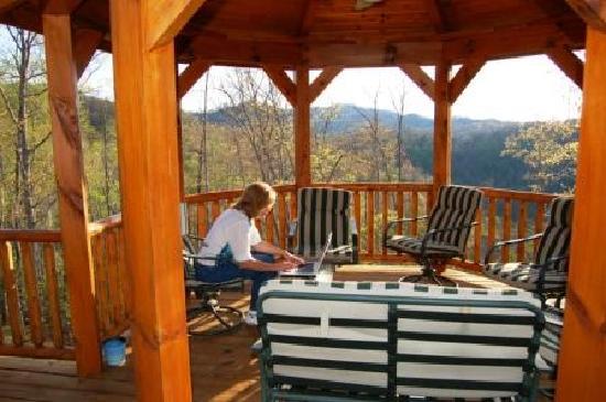 Lands Creek Log Cabins: free wi fi