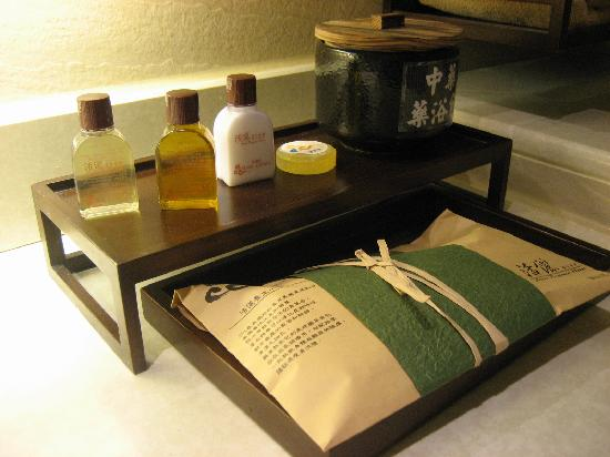 Aroma Hotel : Herbs and toiletries